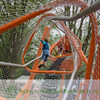 Amusement park furrule rope mesh fence for protection