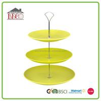 Fashionable design eco friendly wedding melamine cake stand plate