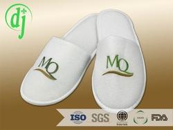 white dense velvet disposable best home slippers for hotel