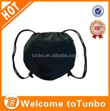 Wholesale promotional drawstring reusable shopping bag football 190T fabric shopping bag