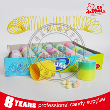 Colorful Slinky Ring Toys Sweets, Mini Rainbow Spring Candy Toy