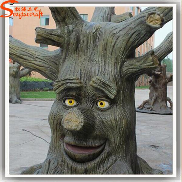 Design unique artificielle d corative arbres souches en fiber de verre troncs d 39 arbres - Souche d arbre decorative ...