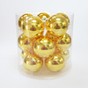 "2.5"" Multicolor Decorative Royal Gold Pack 15pcs Exquisite christmas Balls"