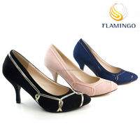 FLAMINGO 2015 LATEST ODM OEM fashion new style high heel apparel party shoes pointed toes ladies dating pump shoes
