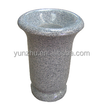 Granite Flower Vase For Gravestone Headstones Tombstones