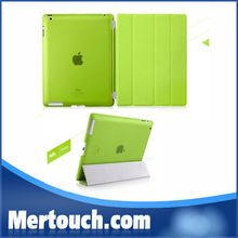 Colorful bumper smart cover leather cases for ipad 2 3 4