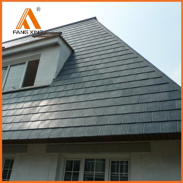 Fire resistant plastic building synthetic slate roofing for Fire resistant roofing