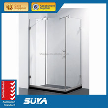 luxury stainless steel shower cubicle