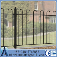 Alibaba express commercial cheap 8ft metal steel fence