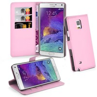Ultra Slim Luxury Leather Wallet Book Flip Case Cover For Samsung Galaxy Note 4