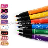Fashion 12 colors for choice Design Pro Nail Art Pen Painting Paint Drawing Pen Nail Tools Manicures Hot Sales