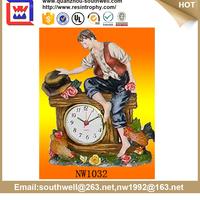 Polyresin clock for home decor table CLOCK wedding gift
