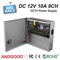 CE RoHS approved 12V 10a 9ch cctv ups power supply