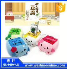 Cartoon mobile phone holder Lovely cartoon tofu mobile phone holder Soft cartoon mobile phone holder