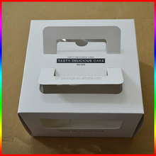 birthday cake corrugated white paper box packaging with logo printing