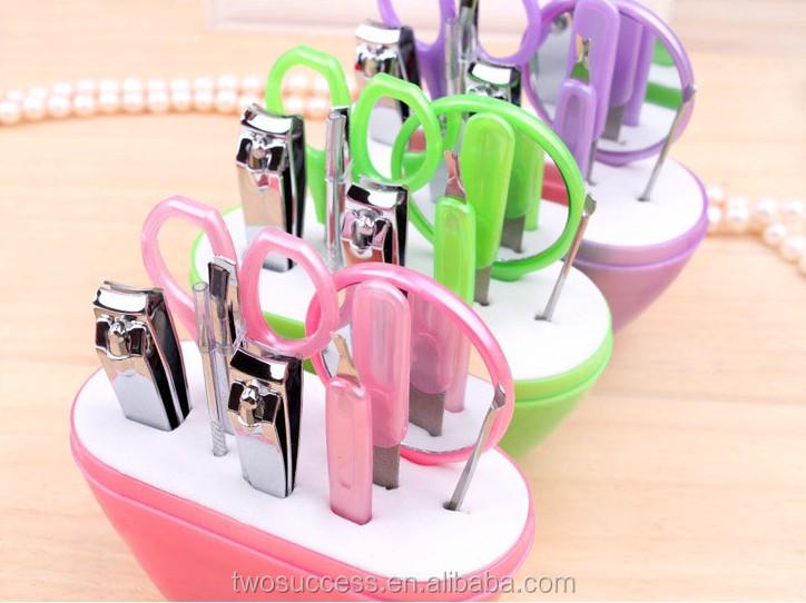 Manicure Set Pedicure Set Nail Clippers Scissors Grooming Kit Apple Shape .jpg