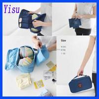 portable multifunction clothes zipper oxford travel bra underwear pouch storage bag