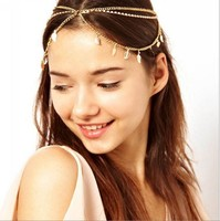 Fantistic Gold Plating Metal Alloy Hair Bands for Cute Girls