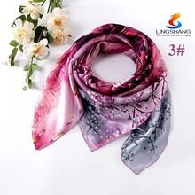 100% silk floral silk scarf neck scarf headband mask wrap bandana scarves