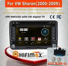 HIFIMAX VW sharan car multimedia player/vw sharan car mp3 player/vw sharan car audio player with DVB-T (MPEG4)