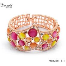 viennios 2014 hollowout chapado en oro rosa diseño de pulseras de diamantes
