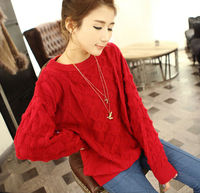 D35070A 2014 KOREA SPRING NEW FASHION YOUNG LADIES PULLOVER KNITTED SWEATERS