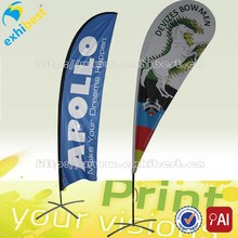 high quality digital printing knitted polyester sand beach flag with stand