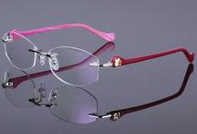 wholesale retail women custom logo latest pc fashion eyeglasses frame eyeglasses women 2015 rimless eyeglasses frame