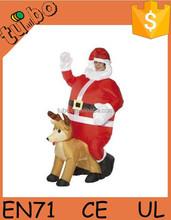 Inflável papai noel roupas de natal papai noel Costume terno