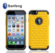 factory supply wholesale price 3 in 1 bling phone cover case for for iphone 6