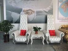DanXueYa -latest design wedding high back chair-royal imperial style chair-high end solid wood sofa chair 2262#