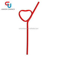 New Design Heart -Shaped Straw For Children Plastic Drinking Straw
