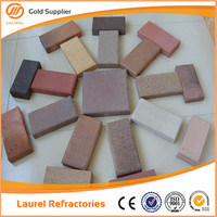 Clay red lighted interlock antique paving bricks price for sale