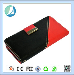 2015 luxury high quality pu leather case for iphone 4