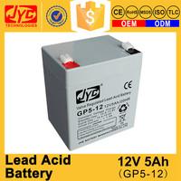 High technology sealed maintenance free lead acid 12v paper battery