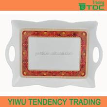 popular design good quality melamine tray with handles