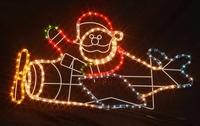 Santa air plane rope light