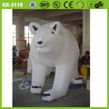 branco inflável animal fantasias de urso polar inflável personagens de desenhos animados
