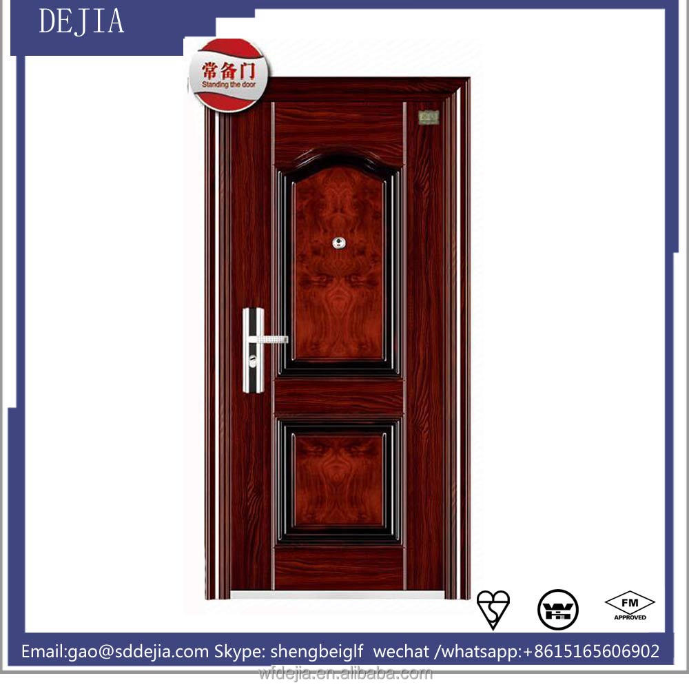 Wholesale cheap exterior security steel door house front for Cheap front entry doors