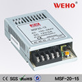 weho 20w 15v sola salida mini de alta tensión de suministro de energía