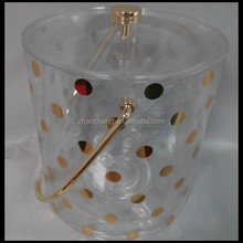 kate spade new york Gold Dots Acrylic Ice Bucket with tong