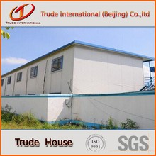 modular house with flat roof