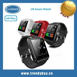 Barato Bluetooth android u8 smart watch 2015 compatible for iPhone for Samsung