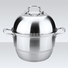 wholesale kitchen appliance stainless steel cookware steamer pot