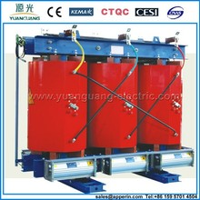 SCB10-63KVA 11kv 400v dry transformer power distribution transformer 3 phase dry cast resin transformer