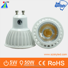 2015 Newly-designed 5W COB GU10 LED Spotlight