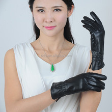 sex lady sheep skin leather gloves