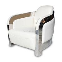 white modern sofa Northern Europe leather sofa