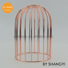Vintage style Red copper metal bird lamp cage Vintage lamp cage for lamps