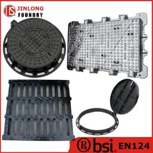 EN124 ductile iron heavy duty manhole covers with frame factory sale